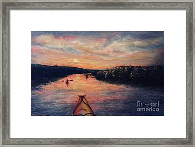 Racing The Sunset Framed Print
