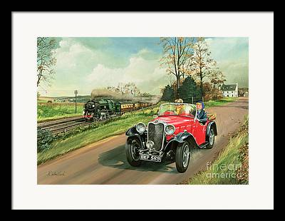 Pulling Cars Framed Prints