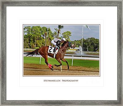 Racing To The Finish Framed Print