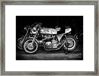 Racing Triumph Special Framed Print