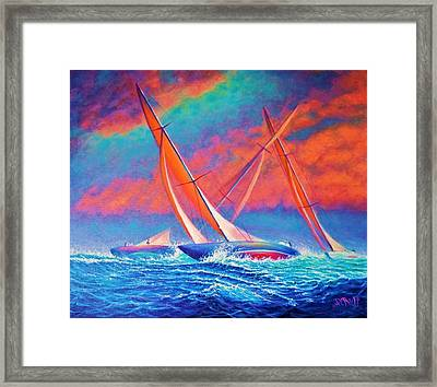 Racing Wedge Framed Print