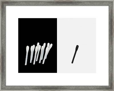 Racism Framed Print by DnG Designs