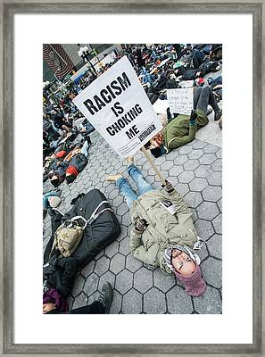 Framed Print featuring the photograph Racism Is Choking Me by Theodore Jones