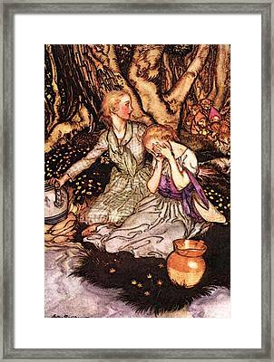 Rackham Arthur Goblin Market Down The Glen Tramp Little Men Framed Print