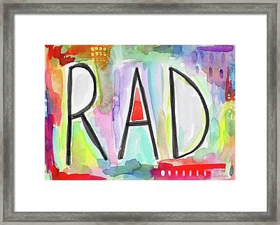 Rad- Art By Linda Woods Framed Print