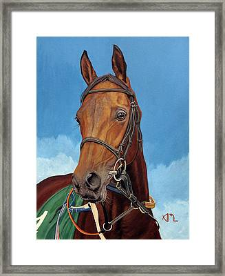 Radamez - Arabian Race Horse Framed Print