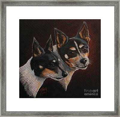 Radar And Ginger Framed Print