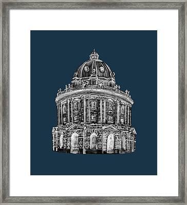 Framed Print featuring the digital art Radcliffe At Night by Elizabeth Lock