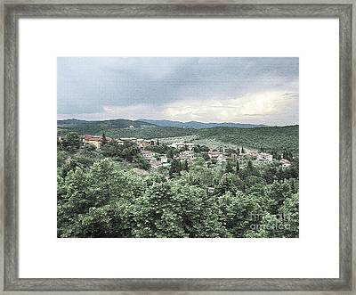 Radda Landscape Framed Print by Linda Ryan