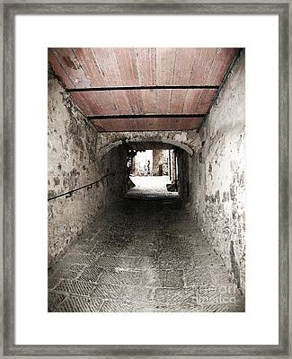 Radda Tunnel Framed Print by Linda Ryan