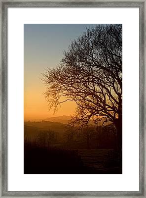 Raddon Hill At Sunset Framed Print