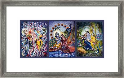 Radha Krishna Cosmic Leela Framed Print