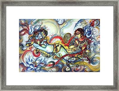 Radha Krishna - Flute - Love Framed Print
