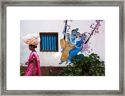Radha Krishna Framed Print