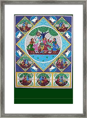 Radha Krisna Framed Print by Rabindra Meher