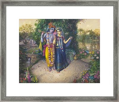 Radha Madhava Framed Print