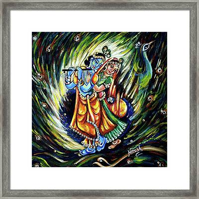 Radhe Krishna Framed Print by Harsh Malik