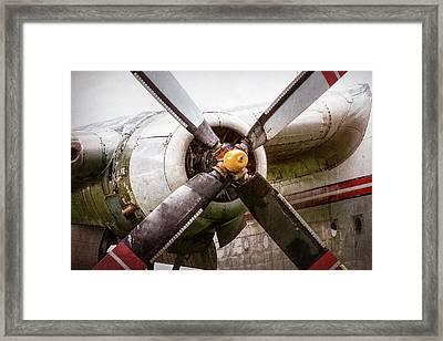 Radial Engine And Prop - Fairchild C-119 Flying Boxcar Framed Print by Gary Heller