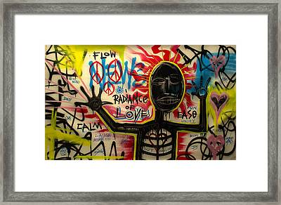Radiance Of Love Framed Print by Wall  Street