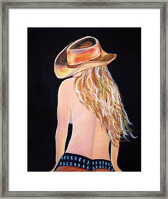 Radiant Cowgirl  Framed Print by Jennifer Godshalk