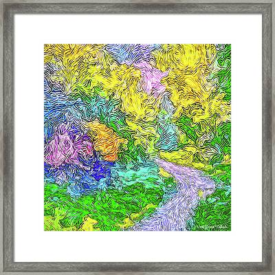 Radiant Garden Pathway - Trail Through Santa Monica Mountains Framed Print