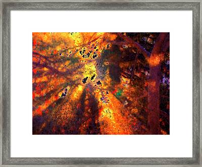Radiant Ice Crystals - Winter Storm Abstract Framed Print by Rayanda Arts