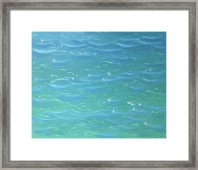 Radiant Ocean Deep Framed Print by Larysa Kalynovska