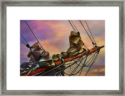 Radiant Old Greement Framed Print by Karo Evans