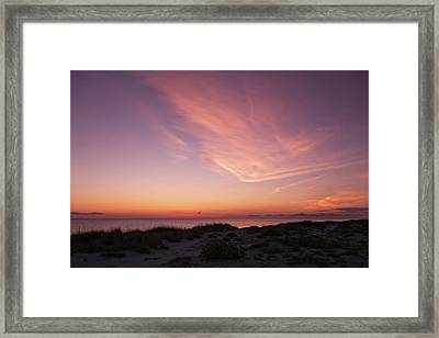 Radiant Painting Of The Sky At Sunset  -  Venbchsunset135136 Framed Print