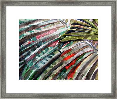 Radiant Palms Framed Print by Mindy Newman