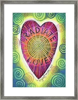 Radiate Love Framed Print