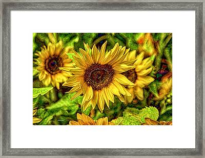 Radiate Love To The World Framed Print by Dennis Baswell