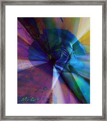 Radiating Light Framed Print