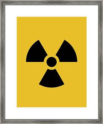 Radiation Hazard Symbol Framed Print