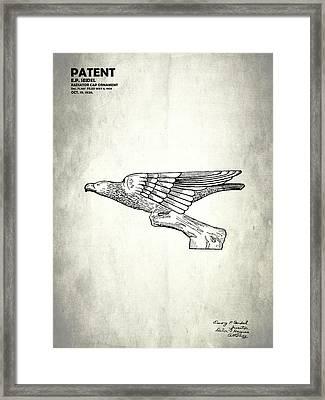 Radiator Cap Patent 1926 Framed Print by Mark Rogan
