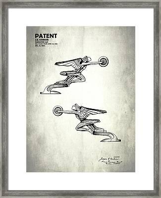 Radiator Cap Patent 1927 Framed Print by Mark Rogan