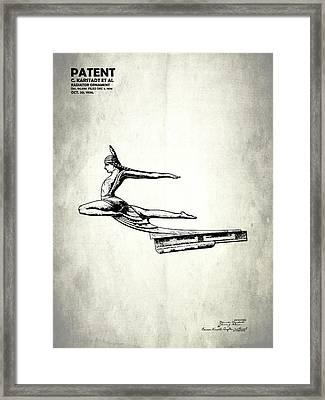 Radiator Cap Patent 1934 Framed Print by Mark Rogan