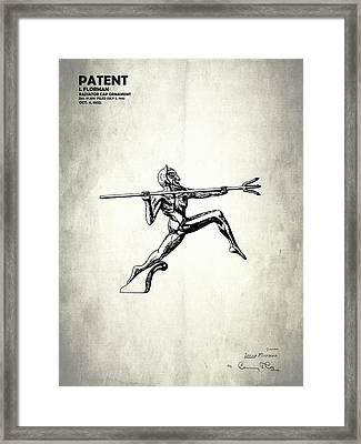 Radiator Ornament Patent 1932 Framed Print by Mark Rogan