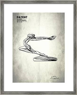 Radiator Ornament Patent 1933 Framed Print by Mark Rogan