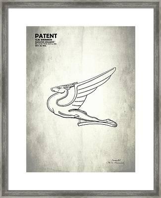 Radiator Ornament Patent 1934 Framed Print by Mark Rogan
