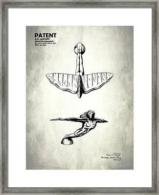 Radiator Ornament Patent 1936 Framed Print by Mark Rogan