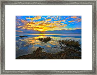Radical Sunset Over Pamlico Sound Outer Banks Framed Print by Dan Carmichael
