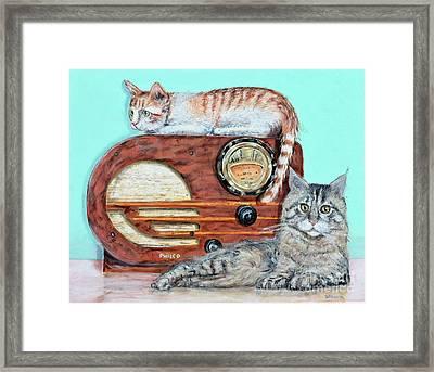 Radio Cats Framed Print by Chris Dreher