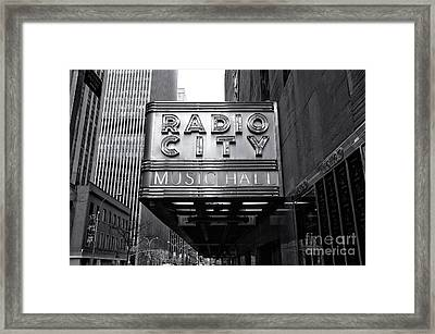 Radio City In The City Framed Print