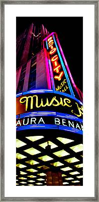 Radio City Music Hall Framed Print by Az Jackson
