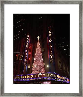 Radio City Music Hall During The Holidays Framed Print by John Telfer