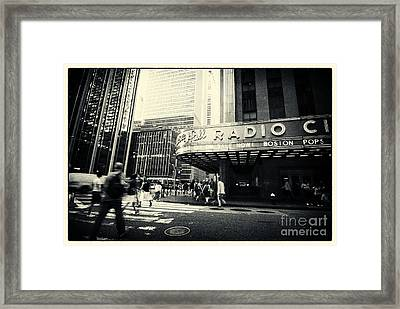 Radio City Music Hall Manhattan New York City Framed Print