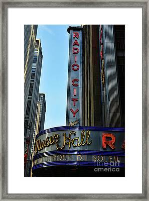Radio City Music Hall Framed Print by Paul Ward