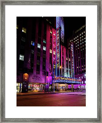 Framed Print featuring the photograph Radio City Music Hall by M G Whittingham