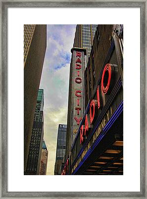 Radio City Ny Framed Print by Chuck Kuhn
